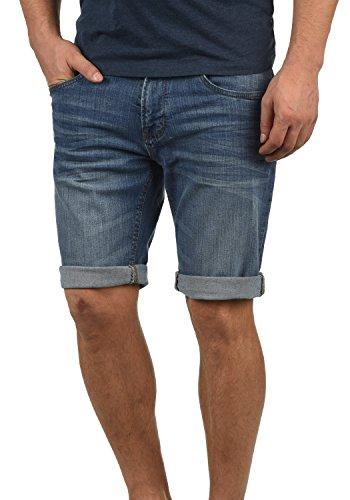 Indicode Quentin Herren Jeans Shorts Kurze Denim Hose Mit Destroyed-Optik Aus Stretch-Material Regular Fit, Größe:XXL, Farbe:Medium Indigo (869)