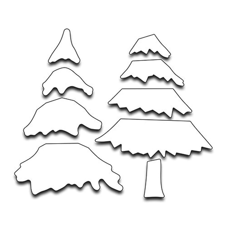 Penny Black Creative Metal die, 51-277,Snowy Layered Tree