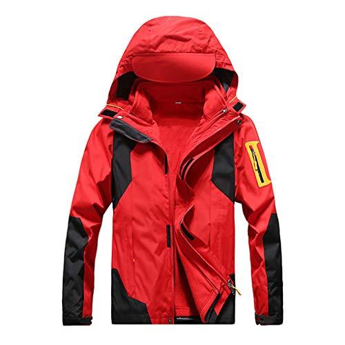 Bfmyxgs Kapuze Derbe Mantel Bergwandern, Outdoor-Sportartenzweiteilige, Herausnehmbare Damen-Wetterschutzjacke Rose
