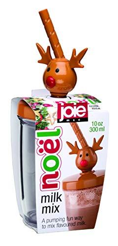 Joie Kitchen Gadgets 99188 Christmas Reindeer Milk Mixer, Plastic