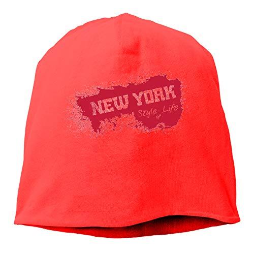 Sng9o Gorros unisex de algodón suave para adultos de la ciudad de Nueva York