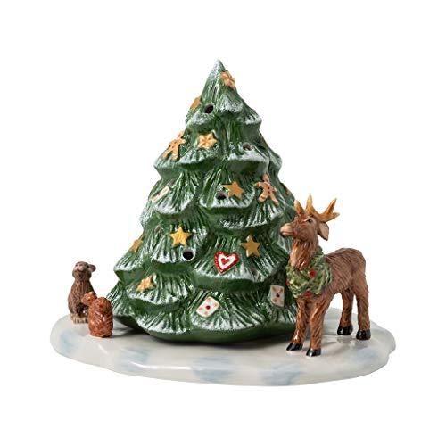 Villeroy & Boch Christmas Toys Albero di Natale con Animali della Foresta, Porcellana, Multicolore, 23 x 17 x 17 cm
