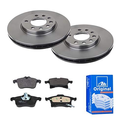 2 Bremsscheiben belüftet 280 mm + Bremsbeläge Vorne von ATE (1420-21678) Bremsensatz Bremsanlage Bremsen-Kit,Bremsenset, Bremsscheiben, Bremsbeläge, Bremsen-Set, Beläge, Bremsbelag, Bremsbelagsatz,