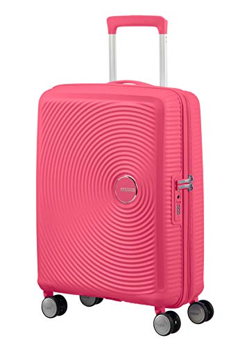 American Tourister Soundbox - Spinner Small Expandable Koffer, 55 cm, 41 Liter, Hot Pink