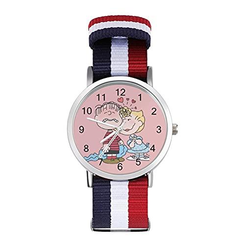 Los relojes Snoopy son impermeables, versátiles, informales, estudiantes, hombres, mujeres, deportes, moda y temperamento simple anime dibujos animados
