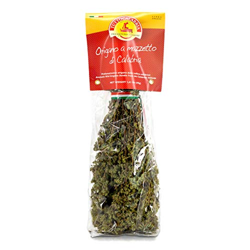 Dried Calabrian Oregano on Stem 1 pack x 40 g by TuttoCalabria (1 Pack)