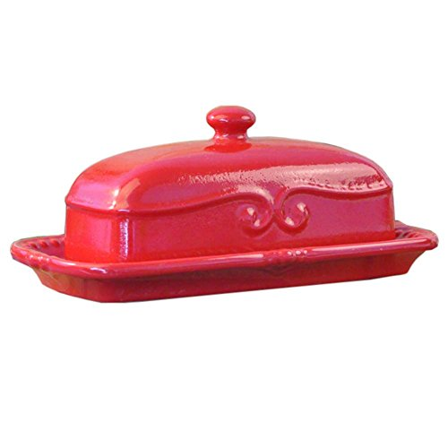 Vintage Design Decorative Butter Dish Conteneur à fromage avec couvercle Creative Gift for Housewarming, A