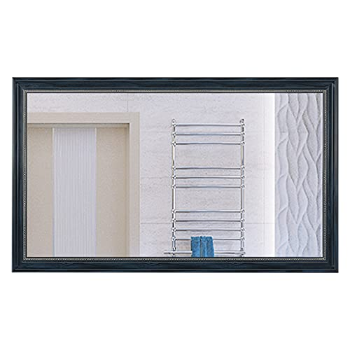Rectangle Decorative Wall Mirror Para La Cómoda De La Sala De Estar De La Habitación, Espejos Estadounidenses Vintage Colgando Con El Marco De Ps, Espejo De Gabin(Size:50x70cm,Color:Azul mediterráneo)