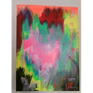 """Colorful"", abstrakt"", Acryl auf Leinwand,*handgemalt*,Original,30x40cm neu"