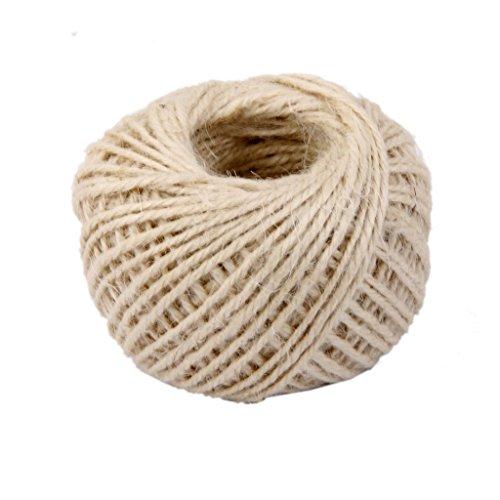 westeng 1pc cuerda de 2mm, 4capas de la bola 50m natural cuerda de cáñamo cable para etiqueta, regalos Regalo, oficina, DIY, proyectos de jardinería