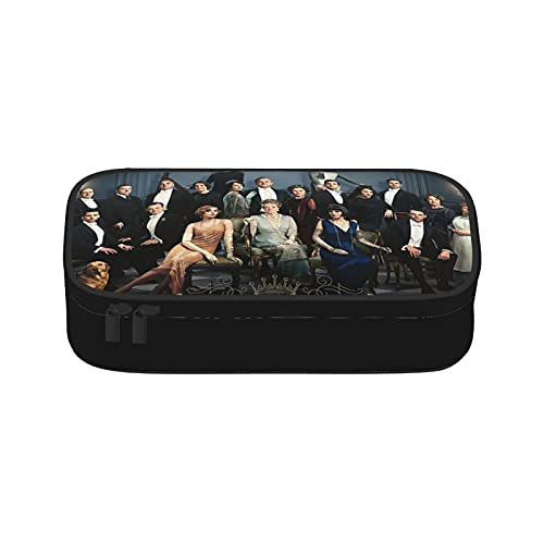 Downton Abbey Film-Federmäppchen, rund, mehrfarbig, geeignet für Kinder, Unisex, Teenager, Schule, Make-up oder Aktivitäten