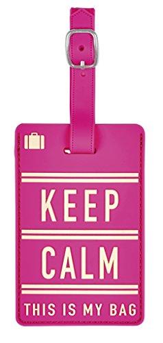 moses. Fernweh Kofferanhänger - keep calm Gepäckanhänger, 11 cm, Mehrfarbig