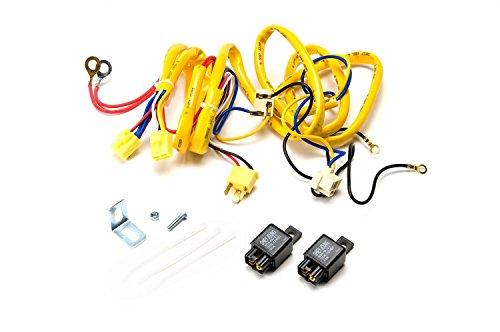 Putco 230004HW Premium Automotive Lighting H4 100W Heavy Duty Wiring Harness and Relay,BLACK