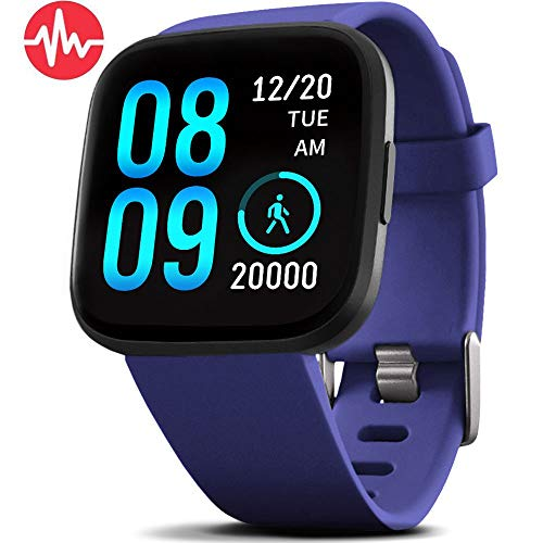 FITVII Health & Fitness Smart Watch with Blood Pressure Heart Rate Monitor, ip68 Waterproof...