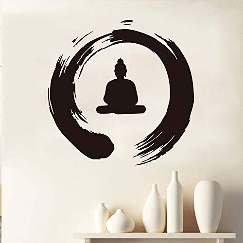Zen und Buddha Kreis Wandaufkleber Künstler Home Decor Abnehmbare zertifizierte Vinyl Wandaufkleber; Wassertapete Aufkleber Schlafzimmer Vinyl Wanddekoration Home Vinyl Dekor