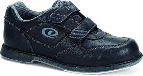 Dexter Bowlingschuhe für Herren mit V Riemen, Herren, Dexter V Strap Shoes, schwarz, 10.5