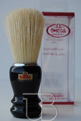 Preisvergleich Produktbild Omega Rasierpinsel reine Borste 20106 schwarzer Griff