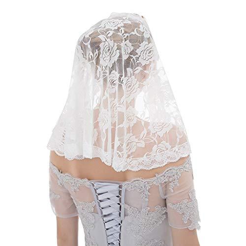 JERKKY Bruids Sluier 1 Stuk Enkele Laag Bruids Korte Bruiloft Sluier Haak Zure Bloemen Kant Sjaal Stijl Vrouwen Bruids Haar Accessoires Party Kostuum