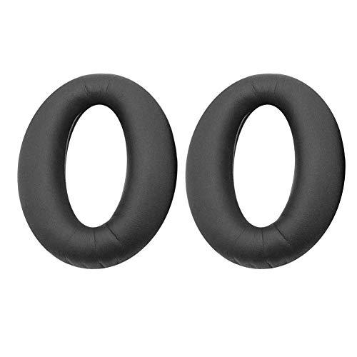 Domybest 1 paar vervangende oorkussens van schuimrubber voor koptelefoon Sony WH1000XM2 MDR-1000X, zwart.