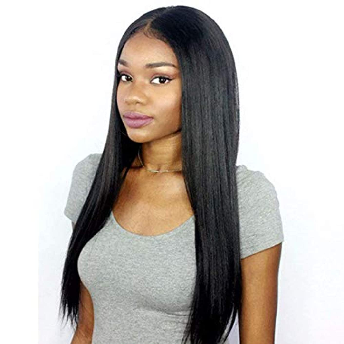Premier 360 Lace Frontal Wig Light Yaki Straight Brazilian Remy Human Hair Wigs for Women 150% Density 360 Lace Front Wigs Pre Plucked Hairline with Baby Hair 14 inch Natural Color free part