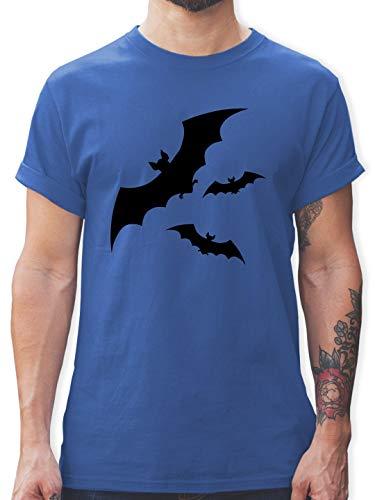 Halloween - Fledermäuse - XXL - Royalblau - Geschenk - L190 - Tshirt Herren und Männer T-Shirts