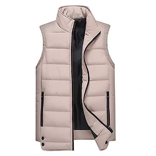 Chaleco Engrosado cálido para Hombre, Cuello Alto, Color sólido, versión Coreana, Chaleco Delgado Casual otoño Invierno
