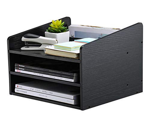 PAG Wood Desktop File Organizer