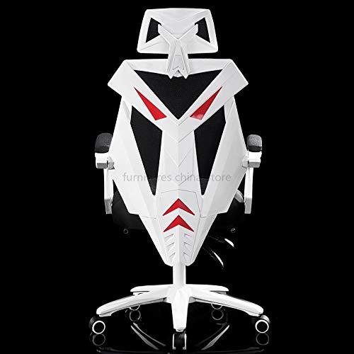 KANJJ-YU Outdoor Internet Cafe-Spiel LOL WCG Racing Esports Chair Live-Sofa-Zuhause kann gedreht Werden, um Luxus-Büro-Computerstuhl aufzuheben Innen (Color : Nylon feet 5)