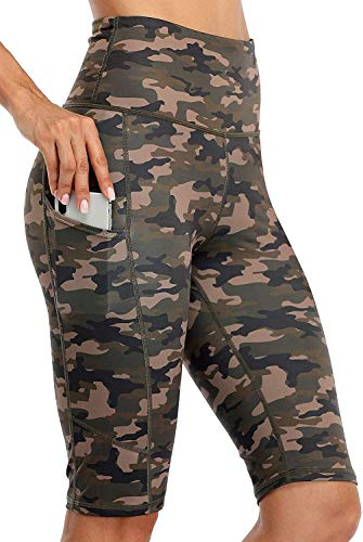 Anwell Tights - Leggings cortos para mujer, con funda para móvil, color...