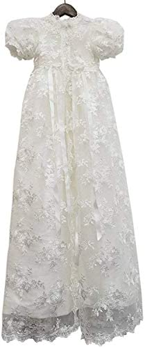 Abaowedding Lace Christening Gowns Baby Baptism Dress Newborn Baby Dress 3 M White product image