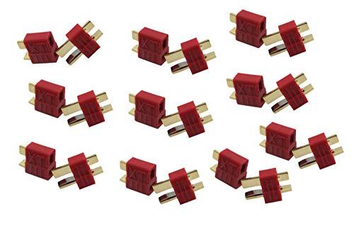 Eva Shop Conectores en T de nailon Dean de alta corriente (20 unidades, 10 pares)