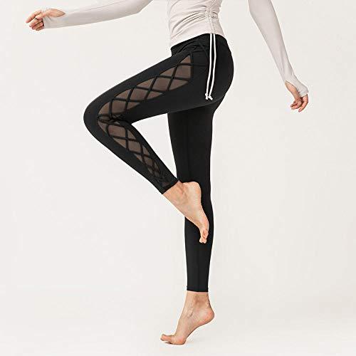 Medias de mujer Leggings y medias deportivas para mujer Costuras de hilo neto deportes caderas pantalones de fitness estiramiento apretado sexy pantalones altos de mujer secado rápido correr yoga nue