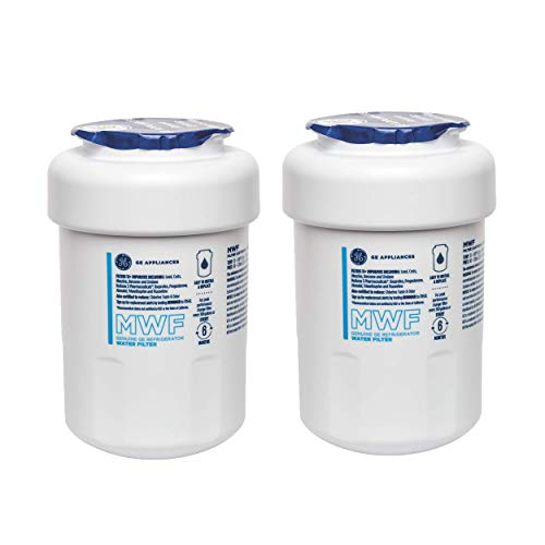 GE MWF Refrigerator Water Filter, Replacement for GE SmartWater MWFP, MWFA, GWF,GWFA, HDX FMG-1, WFC1201 (2 Pack)