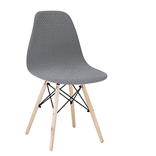 BSZD 1/2/4/6 Stück Samt und Polar Fleece Stoff Stretch Scandinavian Chair Cover, 2021 Waschbare Sitzbezug für Home Hotel (Color : ME Silver, Specification : 2 Pcs)