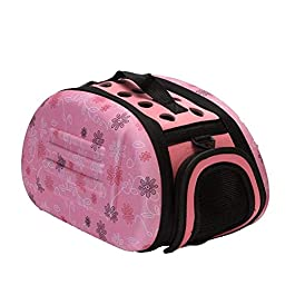 CZWYF Cat and dog bag Pet Out Travel Bag Puppy Handbag With Portable Pack Folding Dog Backpack (Color : D)