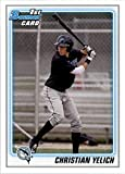 2010 Bowman Draft Prospects #BDPP78 Christian Yelich RC Rookie MLB Baseball Card Brewers. rookie card picture