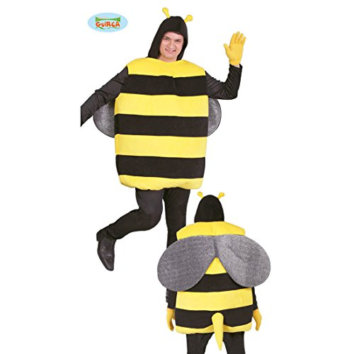 NET TOYS Bienenkostüm Kostüm Biene L (52/54) Hummel Faschingskostüm XXL Brummer Herrenkostüm