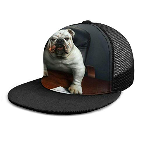 Gorra de béisbol Boss Bulldog Smoking Funny Dog 3D Sombreros Snapback Ajustables Sombrero de Camionero Hip Hop Plaid Gorras de béisbol Planas