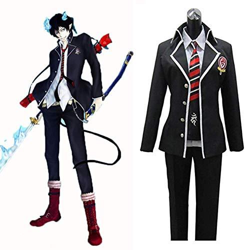 Mars Jun Anime Blue Exorcist Ao No Exorcist Disfraz de Cosplay Okumura Rin Uniforme Escolar de Halloween Pantalones de Hombre Corbata