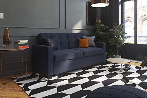 Signature Sleep Devon Sleeper Sofa with Mattress, Blue Linen, Queen