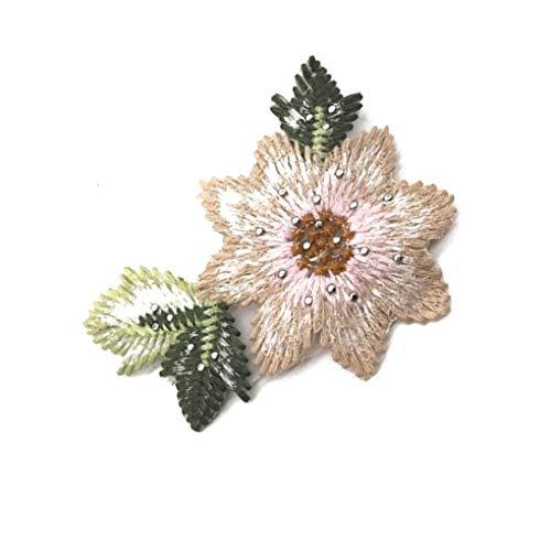 Busirde Costura de la Mano Flores de Bolas de Bricolaje Ropa Bordada Parches Apliques Traje artesanía Accesorios de la Goma