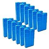 ToCi Lot de 12 blocs réfrigérants de 400 ml chacun | 12 éléments réfrigérants bleus pour le sac isotherme ou la glacière