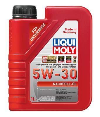 Liqui Moly Motoröl Motorenöl Motor Motoren Öl Engine Oil 5W-30 Nachfüll-Öl Benzin Diesel 1L