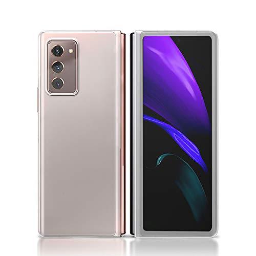 NEWZEROL Estuche para Samsung Galaxy Z Fold 2 5G [Cobertura Total] [Marco rígido] [Absorción de Golpes] Funda Protectora Estuche rígido para PC Esmerilado para teléfono -Transparente