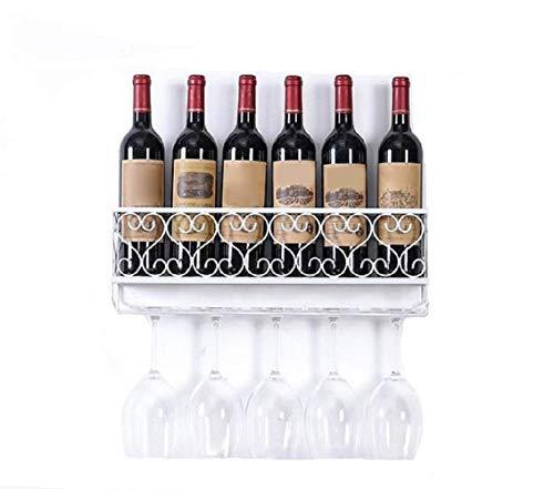Fanville Wine Rack Wand Eisen Weinregal Flasche Champagner Glashalter Regale Bar Home Party Stemware Inhaber