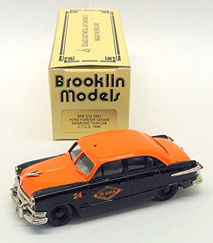 Brooklin Models 1 43 Scale Model Car BRK51A 001 1951 Ford Forder Diamond Taxicab