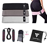 ORPEX Fabric Resistance Bands Set for Women, Jump Rope, Booty Bands for Working Out, 3 Resistance...