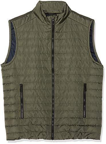 Geox M Wilmer Chaleco Deportivo, Verde (Military Green F3172), 52 para Hombre
