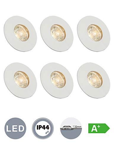 günstig Badezimmer LED-Downlight mit Glas Eingebettete Decken-Downlight für Badezimmer 6x4W 230V IP44 LED… Vergleich im Deutschland