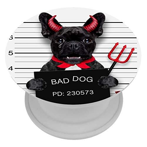 ART VVIES Cute Devil Pug Dog Cute Grip expandible para Accesorios para teléfonos móviles